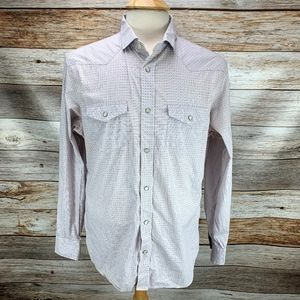 Banana Republic Slim Fit Pearl Snap Western Shirt